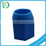 promotion lovely desk the stump of a pencil tip silicone rubber pencil holder customized logo