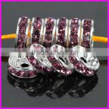 KJL-BD5173 Wholesale violet Crystal rhinestone Wave white-K Spacer Beads Jewelry Accessories