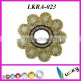 2014 New Design rhinestone flower shape applique Handmade Welding crystal trim for bridal clothing set