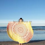 Yellow Yoga Mat Beach Throw Bohemian Roundie Hippie Mandala Round Throw Beach Roundie Tapestry Mandala Round Roundie