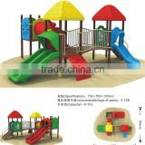 children outdoor playground Anti-rust galvanized steel plastic set park slide CIT10-133A