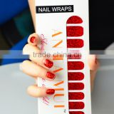 Halloween dongguan shining bloody red nail art strip for party waterproof nail arts design glossy metallic nail sticker factory                                                                         Quality Choice