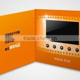 customized video greeting card /video brochure with 2.4/4.3/5/7/10inc lcd video card