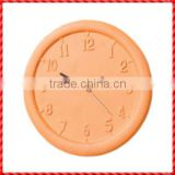 Decorative round handmade garden terracotta Wall Clock Modern Design
