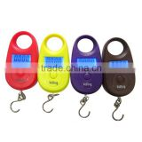 Digital Electronic portable backlight hook luggage hanging mini pocket LCD travel postal pear-shaped scale