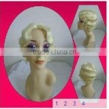 Hot-selling Full Lace Short Blonde Synthetic Jewish Wig