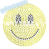 Hottest Sell Lovely Emoji smile face Rhinestone Iron-on Rhinestone Transfer Wholesaler #1