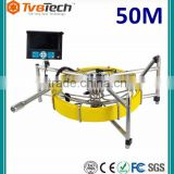 50M Self-leveling Sewer Camera for Sale Pipe Camera for Video Inspection System With Meter Counter And Keyboard