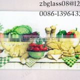 square Tempered glass cutting board