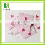 Luxury floral customized folding envelop heart shape wedding invitations paper cut greeting cards and invitation