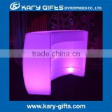 2017 Modern PE Plastic Bar Table Set high bar cocktail table white plastic LED Furniture led bar table