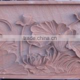 Marble flowers wall relief