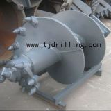 singe cut rock auger for deep foundation piling