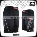 4 way stretch fabric heavy duty polyester spandex fabric custom printed plain black mma shorts