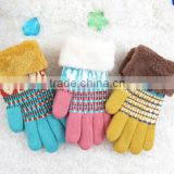 2016 new style children's gloves wool line big child wool gloves