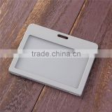 Wholesale Gray Plastic Vertical ID Card Holders Name Card Holders Working Card Badge Holder
