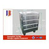 silver roller metal 5 Drawer Lockable Storage Tool Cabinet 930*572*900mm