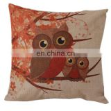 Cartoon owl design home decorative linen pillow cover fashion custom latest design velvet cushion cover