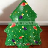 Green melamine plate with snowman printing (melamine dishware ,melamine ware,melaminetableware )