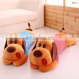 Laying cosy plush stuffed dog pillow huggable cushion bed doll gift toy