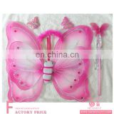 Bulk chicken water led belly dance wings pink Double Butterfly Wing Set
