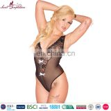 Secret Temptations Lovely teddy Mature Women Black Transparent Lace Sexy Babydoll Lingerie