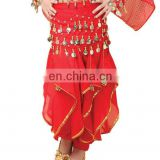 BestDance indian red belly dance pants for kids bellydance professional harem pants for kids OEM