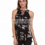 Girls Rayon Tie & Dye Sleeveless Top Summer Casual Wear Stylish Tops & Tunics Online