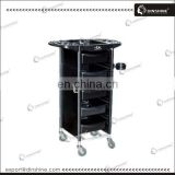 Wholesale hair coloring station hair salon trolleys with rolling wheels