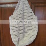 White Cotton Crocheted Market or Beach Bag