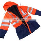 EN20471 Standard Reflective Coat Hi Vis Safety Jacket Construction Safety Rain Coat Reflective Safety Jacket