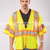 EN471 standard fashion reflective vest high visibility work wear reflective vest