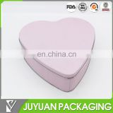 Pink heart shape candy packaging sweet metal tin box for wedding
