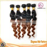 2014 Wholesale Grade 7A Curly Hair 100% Human Ombre Hair Braiding Hair