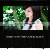 High gain white fast fold projection screen,projection screen, easy move and portable, front and rear projection screen