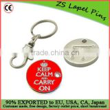 supermarket cart coin keychain/ shopping cart token keychain