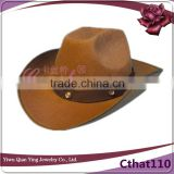 mens festival brown party favors funny cowboy hard hat
