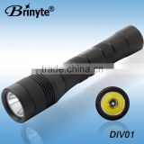 Rechargable battery Brinyte top sale diving light led flashlight torch
