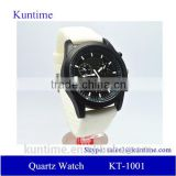 japanese quartz movement watches waterproof 3 atm, white silicone strap