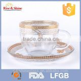 New type mini coffee glass beer mug with lid with competitive price