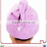 Hot Wholesale Personal Care Products Microfiber Terry Clothes Hair Drying Wrap