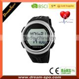 Touch Pulse Heart Rate Watch 6 in 1 Wrist Watch Pedometer Led Watch Sport Stainless Steel Back