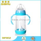 Wide neck 9oz non-spill BPA free eco-friendly wholesale PP plastic baby feeding milk bottle
