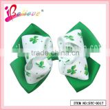 Made in China grosgrain clover ribbon bow tie adjustable clip for brand promotion (SYC-0017)