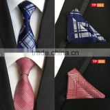 Fashion Jacquard Woven Classic Ties For Men Wedding Neckties Matching Pocket Square 100% Silk Tie