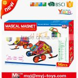 intelligence toys building blocks wholesale 56 PCS magical magnet JM024662