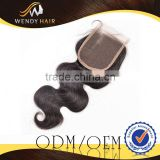 Sample free top grade quality Hot Products 4x4in human hair weave bundles with closures