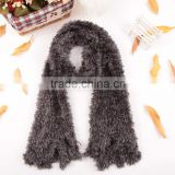 Fashion Gray Women's Winter Changeable Microfiber Magic Scarf Wrap Shawl Ladies Scarves For Girls