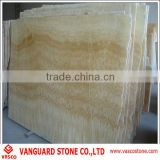 Natural yellow honey onyx marble slab