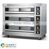 Hot sale energy saving 3 deck 9 trays good price of portable baking bread maker toaster oven